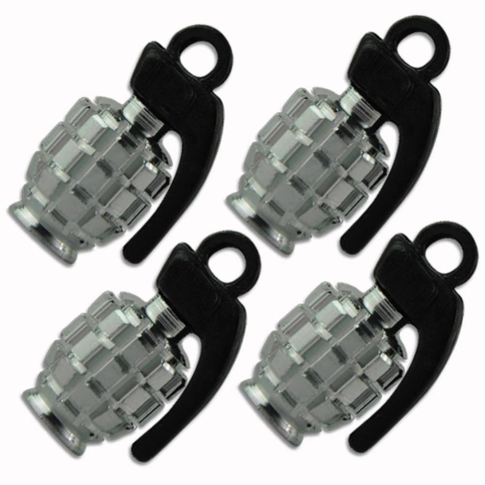 4pcs new grenade design scooter bike air valve motorcycle tire tyre valve cap EG5806(China (Mainland))
