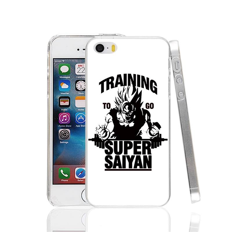 22472 Training to go Super Saiyan Dragon ball Z Cover cell phone Case for iPhone 4 4S 5 5S SE 5C 6 6S 7 Plus(China (Mainland))