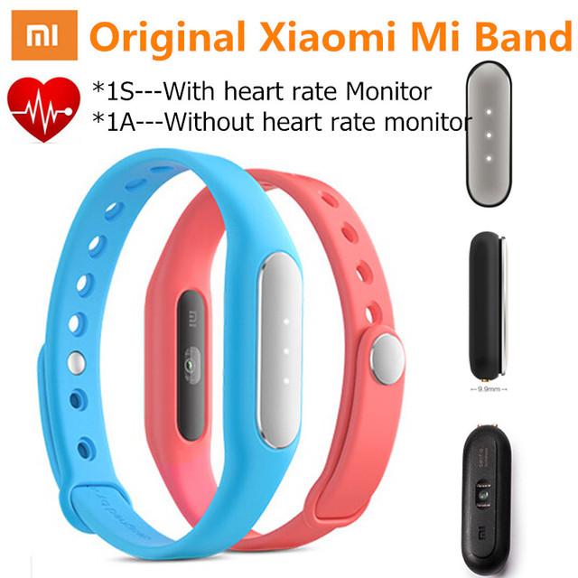 Новый оригинальный фитнес-браслет Xiaomi Mi Band 1S, измерение пульса, с Bluetooth, совместим с Android и iOS