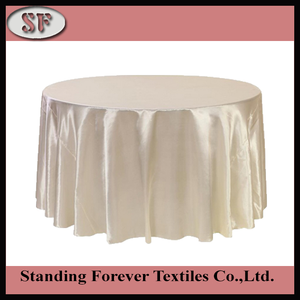 10pcs 110'' Round Satin ivory cream white Tablecloth Table Cover Table Cloth Oilproof Wedding Party Restaurant Banquet Home(China (Mainland))