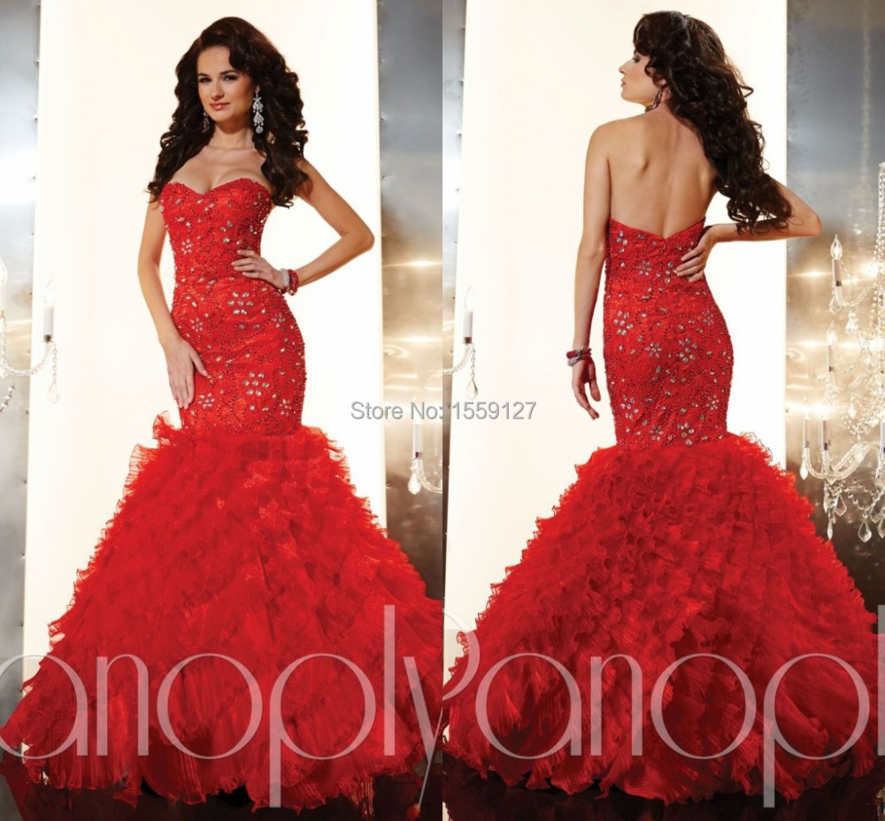 Red Mermaid Prom Dress Photo Album - Klarosa