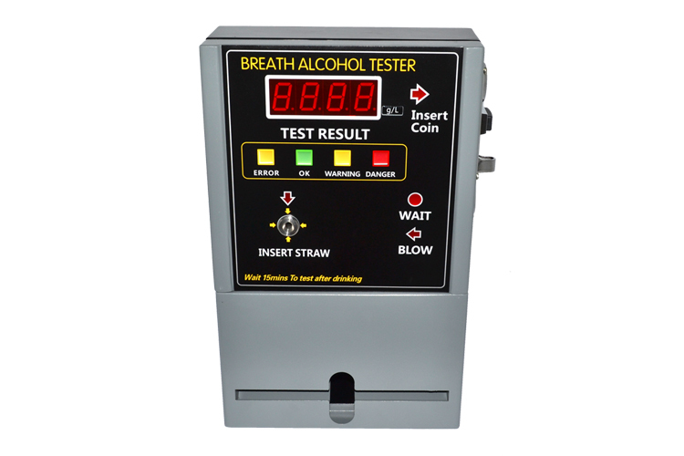 HOT SELLING Coin-operated Breath Alcohol Tester AT809 Breath sampling time about 5 seconds continuous breath.(China (Mainland))