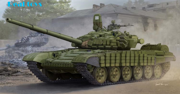 Trumpeter 05599 Russian T-72B / B1 battle tanks linked contacts -1 additional armor(China (Mainland))