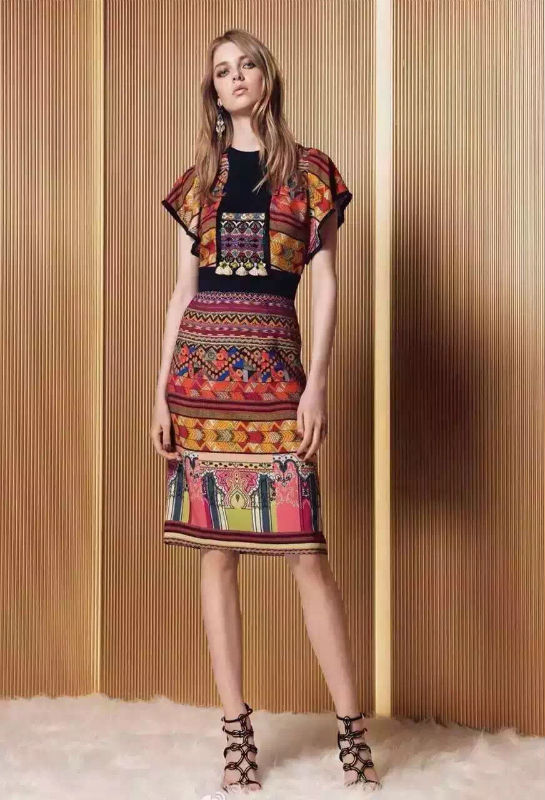 100% POSITIONING PRINTED SLEEVE DRESS FLOUNCING KAREN(China (Mainland))