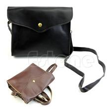 Free Shipping PU Leather Satchel Clutch Purse Brown Handbag Tote Messenger Women Shoulder BagsFor home tool(China (Mainland))