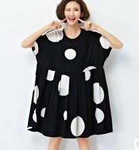 2016 New Clothes For Pregnant Women Plus Size Elegant Polka Dots  Loose And Comfort Tops Maternity T-Shirt Dress Pregnancy(China (Mainland))