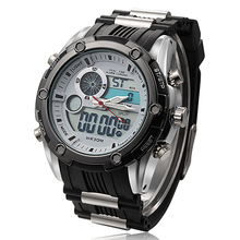 2015 NEW Top Brand Luxury Sport Watches For Men Digital Analog Shock Watch Army Military Waterproof