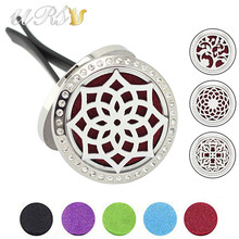 Buy 30mm magnetic czech crystals diffuser 316L stainless steel aromatherapy car locket essential oil car diffuser locket wholesale for $4.99 in AliExpress store