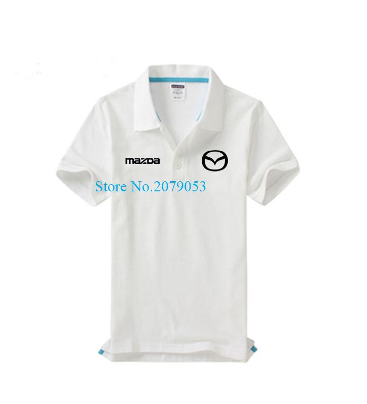 Mazda 4S shop custom work lapel short-sleeved polo shirt beauty shop car repair tooling for women and men(China (Mainland))