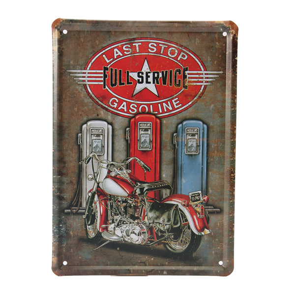 Motorcycle Gasoline Retro Metal Tin Signs Decor Home Wall Poster Pub Vintage