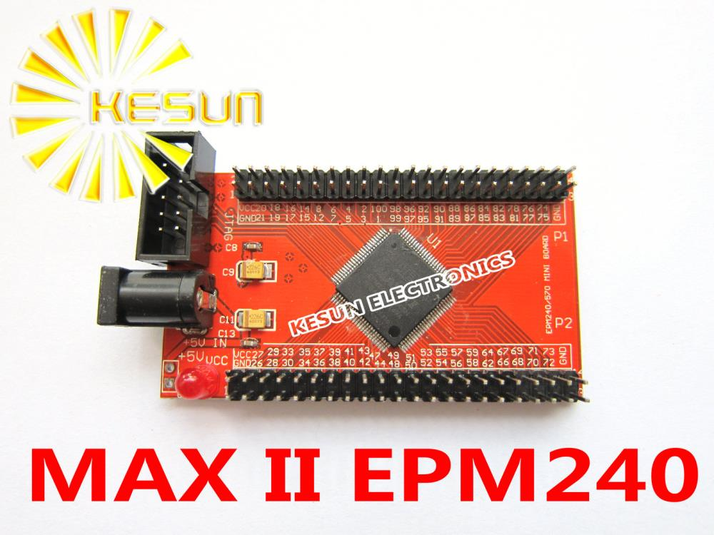 FREE SHIPPING Altera MAX II EPM240 Red CPLD development board minimum system board(China (Mainland))