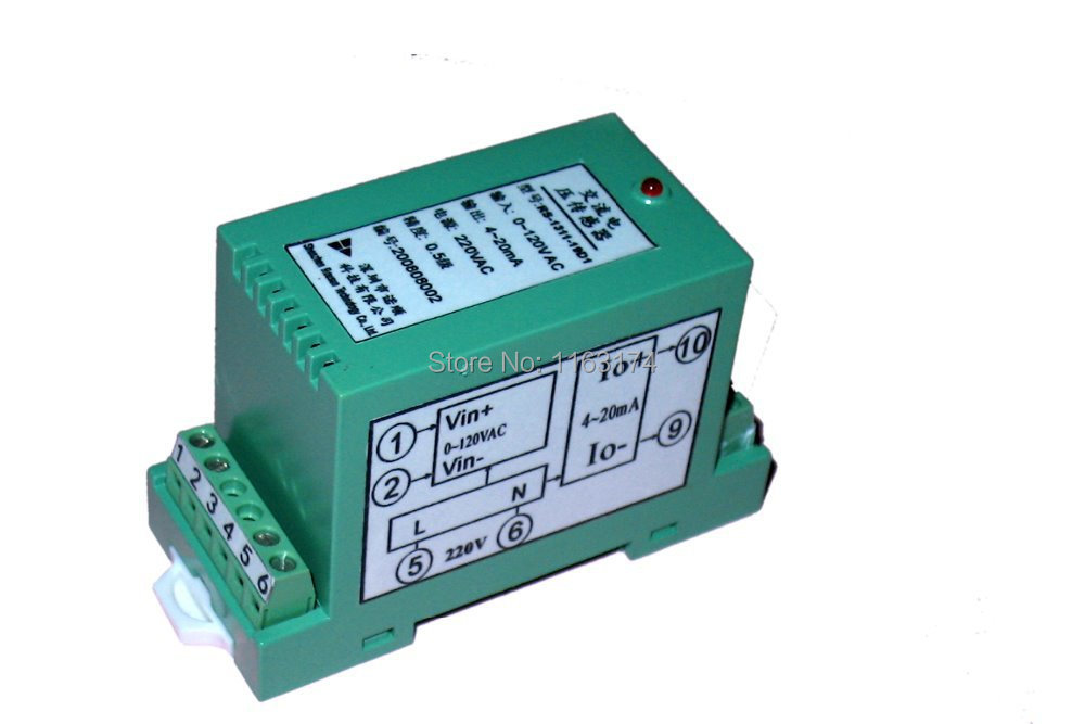 Rail-mounted Frequency to DC Current Voltage Isolated Converter- 0-5KHz/0-10KHz/1-5KHz to 4-20mA|0-5V|0-10V Frequency Converter(China (Mainland))