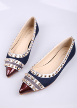 2015 new flat pointed shoes and a rivet shoes on behalf of Guangzhou shoes 2015 1