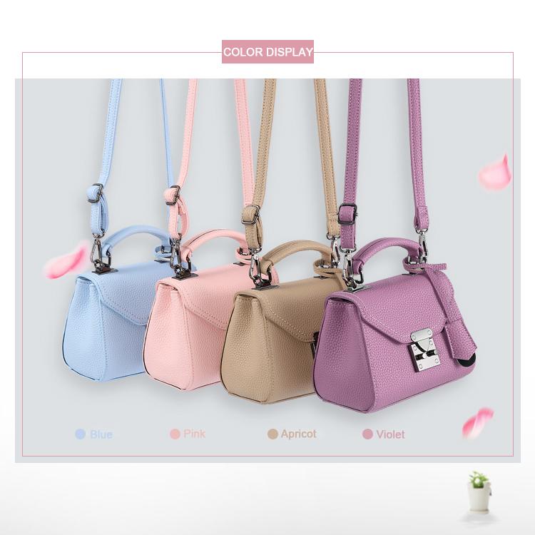 2016 New Ladies Small Crossbody Bag Litchi Stira Leather Korean Style Ladylike MINI Bag Women PU Fashion Cute Shoulder Bag