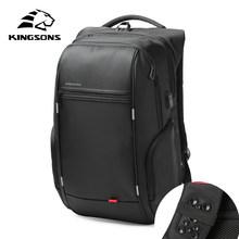 Kingsons 13 pouces USB externe chargeant le sac à dos des hommes pour le sac d'ordinateur femmes sacs à dos étanche Anti-vol sac d'école(China)
