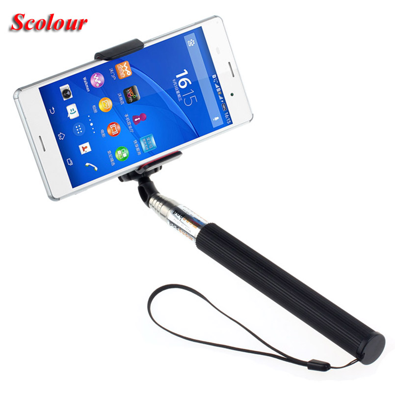 Scolour New Extendable Handheld Self Portrait Stick Holder for Smart Phone(China (Mainland))