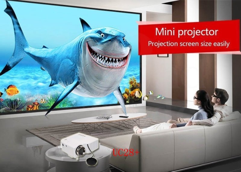 Highly recommend Small Video Entertainment Projector China Supply Multimedia LED PC Projector Low Cost Digital HDMI UC28+(China (Mainland))