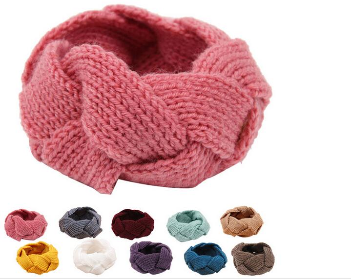 200pcs 2015 hot new free Shipping Crochet Twist Knitted Headwrap Headband Winter Warmer Hair Band Soft Braid(China (Mainland))