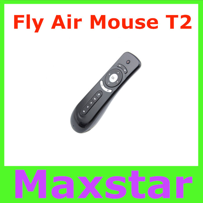 Gyroscope Mini Fly Air Mouse T2 2.4G Wireless 3D Remote Sensing Air Mouse 3D Sense Motion(China (Mainland))