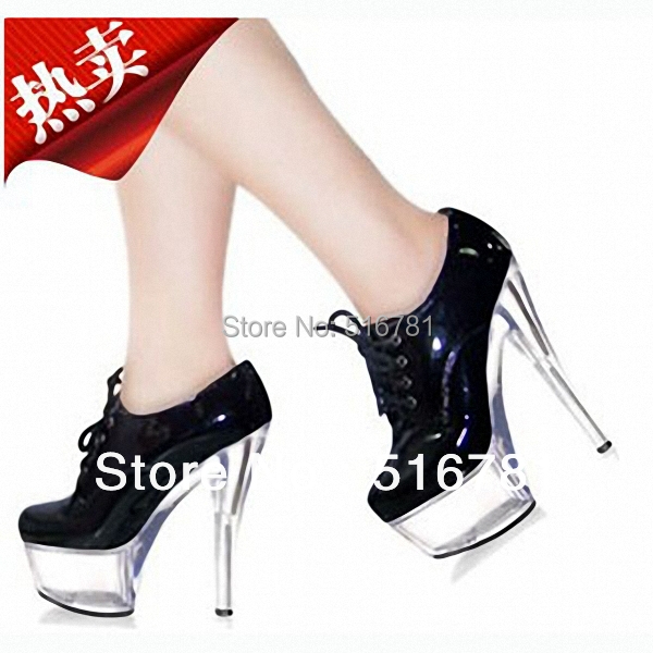 Dance Shoes 15cm Ultra High Heels Single Fashion Stage 6 Inch Gorgeous Patent Leather Mary Jane