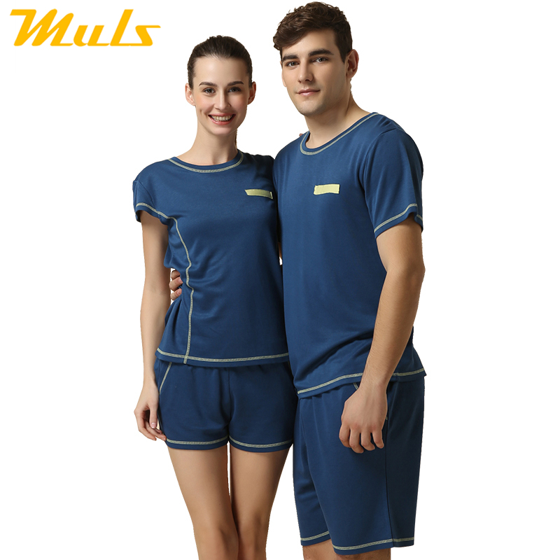 Pajama Set For couple mens sleepware Knitted Modal Homewear Casual Pajamas for men couple sleeping clothes summer pigamas 1515A