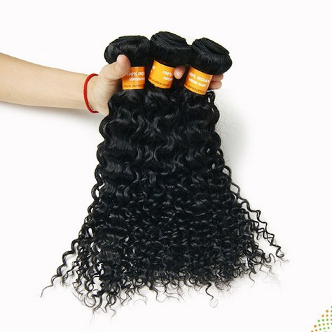 Indian Virgin Hair Grade 5A Curly Wave Human Weave 8-30 Inches - Alina Hsu's store