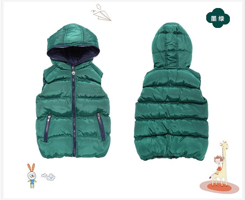 Скидки на 2015 бренд дизайнер ребенка зимой верхняя одежда хлопок жилет мальчиков жилет зимняя одежда детская куртка теплое пальто