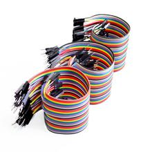 Dupont line 120pcs 20cm male to male + male to female and female to female jumper wire Dupont cable for arduino(China (Mainland))