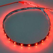 Светодиодные ленты 30 см автомобиля мобильный цикл украшения 2/4 шт. 12V 15SMD 3528 Водонепроницаемый Автомобильный светодиодный фонарь для мотоци...(China)