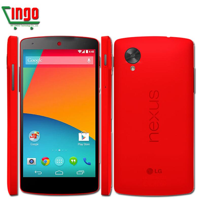 Original Ulocked LG Nexus 5 D820 Cell Phone 3G/4G GPS Wifi NFC Quad Core 2GB RAM 16G/32G Storage 4.95'' Touch Unlocked Phone(China (Mainland))