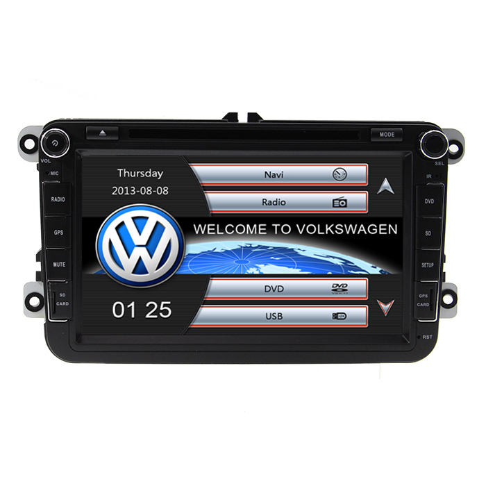 Hot Two Din 8 font b Car b font DVD Player For VW POLO PASSAT Golf