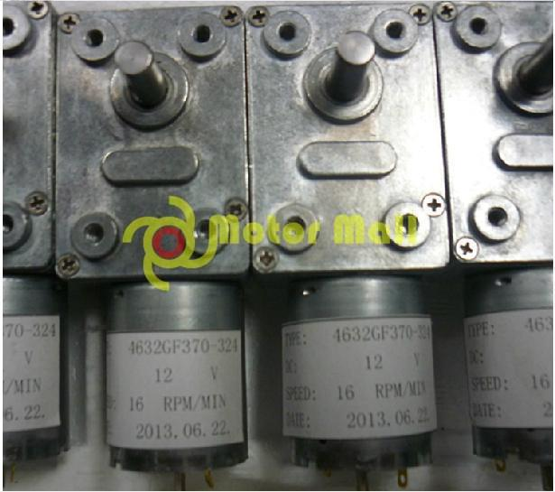 KLGB-370 DC12V/ 16-40RPM,DC geared motor,High-torque ,worm geared motor,Free shipping