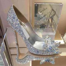 2016 Summer Women Shoes thin High Heels Sandals White Wedding glass shoes