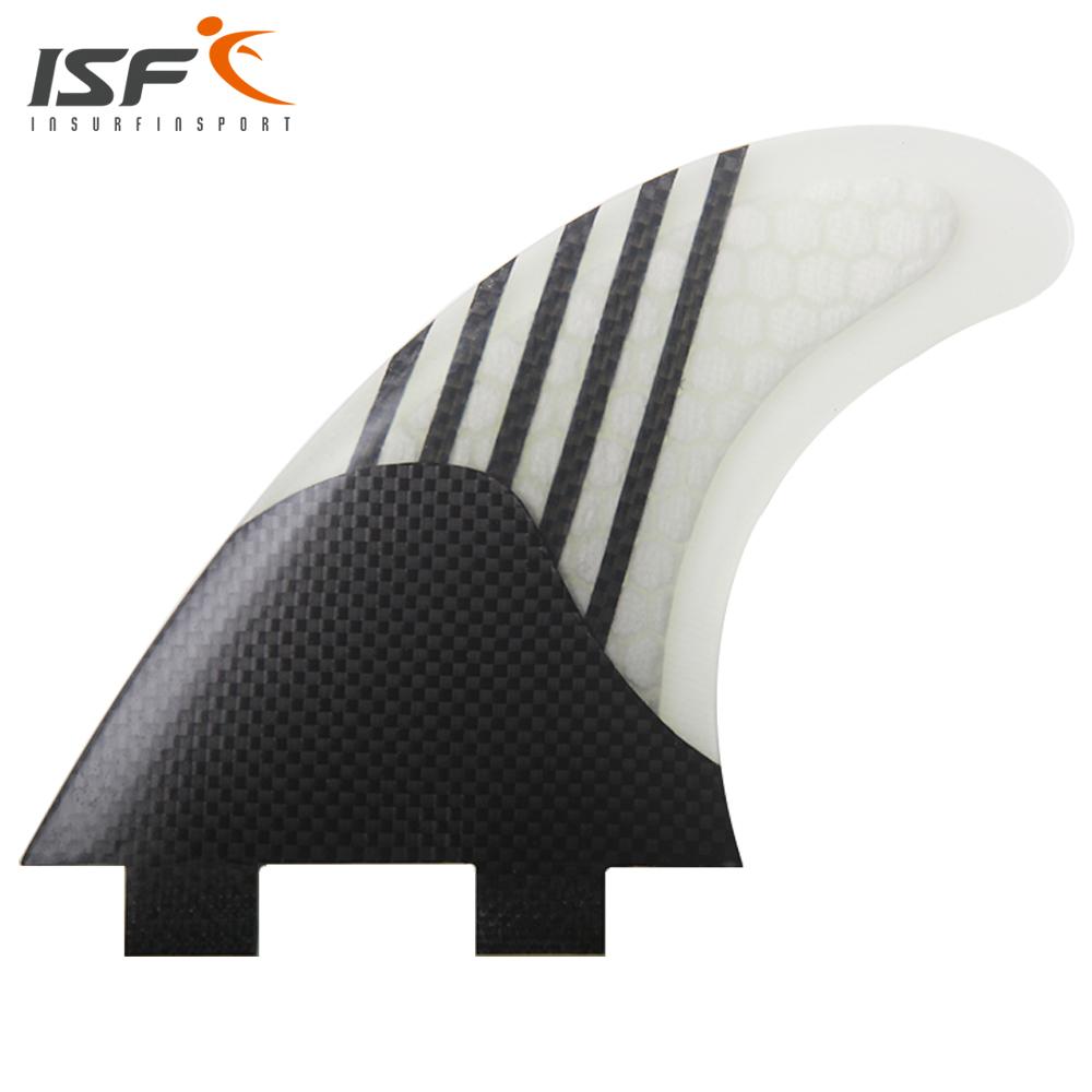 Insurfin Carbonfiber Surfboard FinsThruster Fin Set (3) FCS Compatible Medium Surf Fin(China (Mainland))
