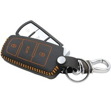 Car Styling Genuine Leather Key Holder Case Chain Clip Volkswagen Passat CC B5 B6 B7 - SNCNMIKO Store store