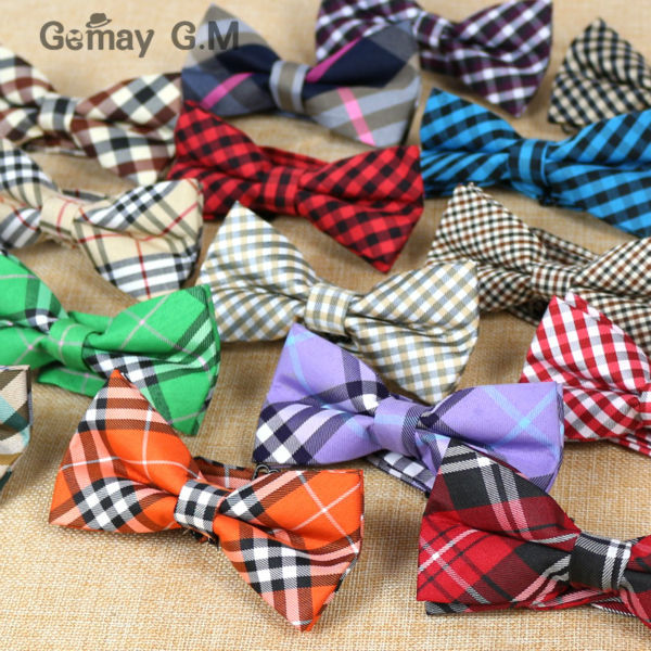 2015 Newest Men Classic plaid Bow ties Neckwear Adjustable Mens Tuxedo Bow Tie Polyester for wedding 18colors Free shipping(China (Mainland))