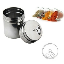 Household Stainless Steel Spice Sugar Salt Pepper BBQ Seasoning Storage Bottle Cooking Barbecue Kitchen Tools(China (Mainland))