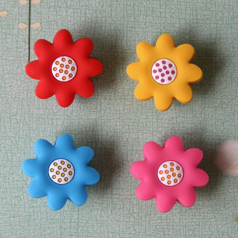 12pcs Cartoon Cabinet Knobs Kids Drawer Handles Sun Flower Knobs Kindergarten Shake Handles & Knobs Shoes Box Pull(China (Mainland))