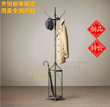 Vintage Coat American country to do the old wrought iron coat rack coat rack hangers Umbrella Stand hotel(China (Mainland))