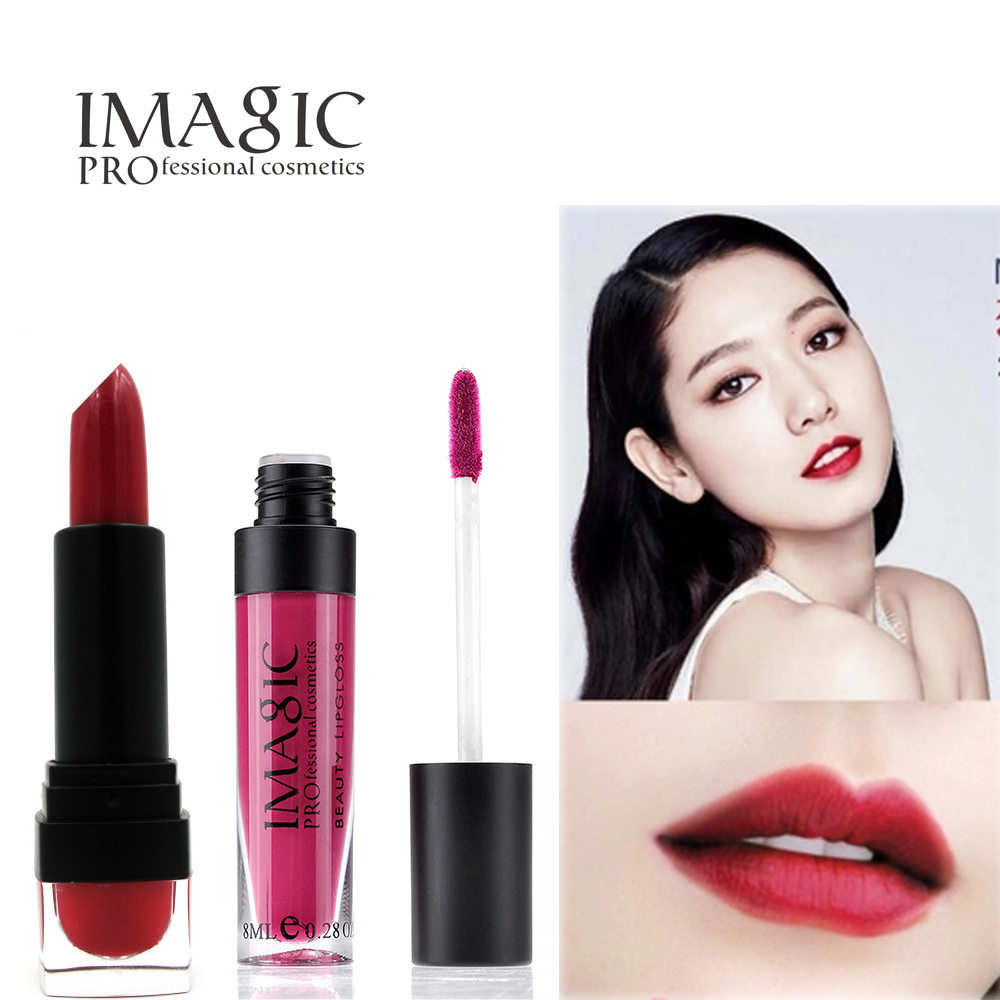 Hot Sale makeup set Matte Pigment Moisturize Cosmetic Makeup Long Lasting Bright Lipstick Different Colors Top Quality(China (Mainland))