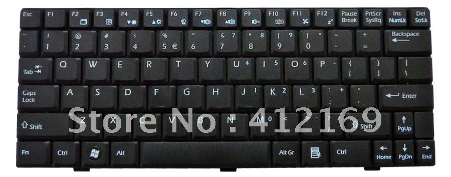 New laptop Keyboard for MSI Wind U100 U110 U120 U115 U123 U123H U123T U90 N011 US black free shipping(China (Mainland))