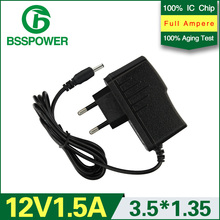 1 pcs high quality power supply adapter 12 v 1.5a adaptor 1500mA DC 3.5*1.35mm EU plug(China (Mainland))