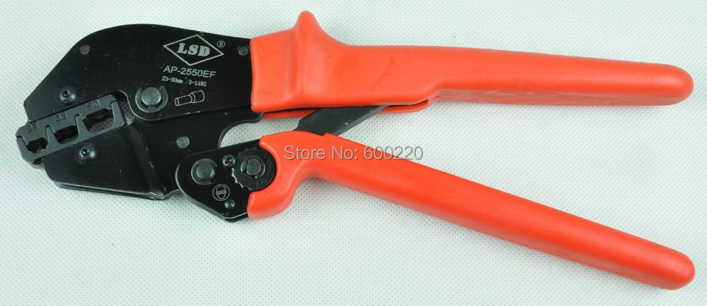 Ratchet crimping tool for cable ferrules 25-50mm2 4-1AWG AP-2550EF,bootlace ferrule crimping plier(China (Mainland))