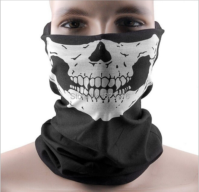 DHL Freeshipping 100pcs Skull Design Multi Function Bandana Ski Sport Motorcycle Biker Scarf Face Masks(China (Mainland))
