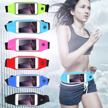 Sport Run Gym Waist Bag Case For Samsung Galaxy S7 S6 S5 S4 A5 A7 A8 Note 3 4 5 For iPhone SE 6S 6S+ 5S Card Holder Waterproof