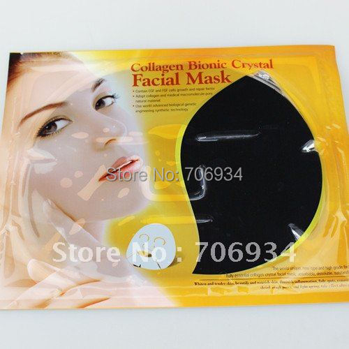 Face Care 20pcs/lot Collagen Bionic Crystal Facial Mask 4 colors Collagen Face Mask(China (Mainland))