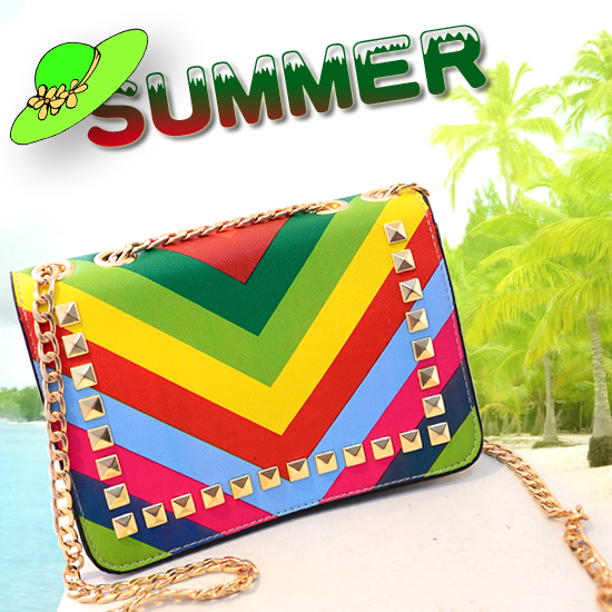 Summer Bag For Beach Bags Women Leather Messenger Rivet Chain Designer Inspired Handbags Wholesale Small Crossbody Famous Brands(China (Mainland))