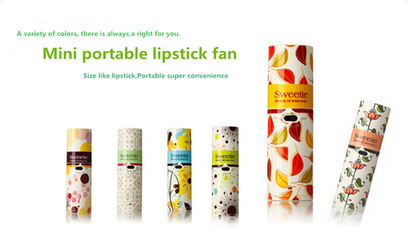 Portable Mini Handheld Fan Cooling Small Battery Power Coolerful Lipstick Shape Cooler Summer Cool Fan