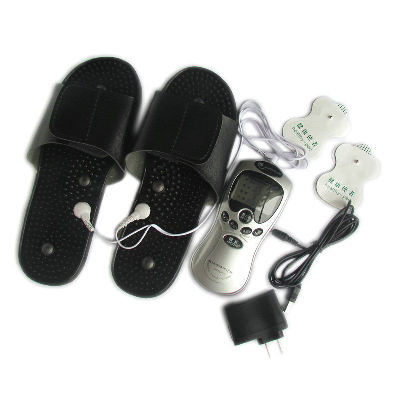 Health Herald Tens/Acupuncture/Digital Therapy Machine Electronic Pulse Foot Massage Body Massager With Slippers(China (Mainland))
