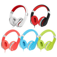kanen i20 Stereo Foldable DJ Style Adjustable Children Boys Girls Kids Headphones with Mic for iPhone Computer PC Smart Phone